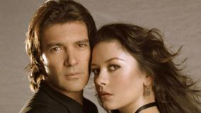 Catherine Zeta-Jones And Antonio Banderas Face Closeup
